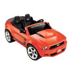 power wheels ford mustang 12 volt powered ride on orange