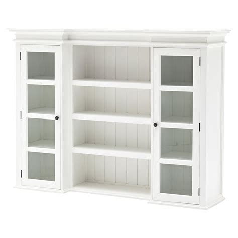 Home Decor Stores Halifax by Halifax Library Hutch With Basket Set Pure White Dcg