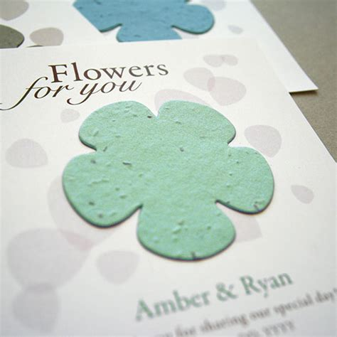 How To Make Flower Seed Paper - classic flower plantable seed paper favor plantable seed