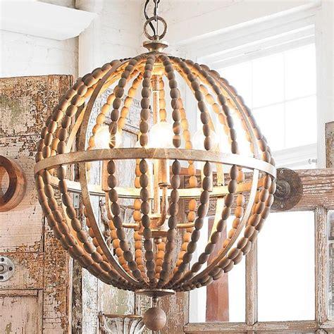 wood bead light fixture amelia wood bead chandelier light fixtures design ideas