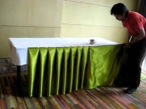 How To Make Buffet Table Skirting Decorating For Wedding Receptions Table Skirting Musica