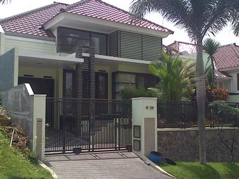 design exterior rumah mewah meneruskan tongkat tak depan rumah mewah 1 lantai