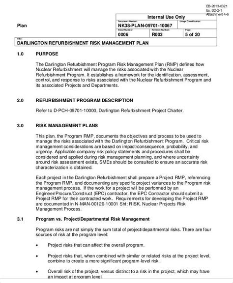 Program Management Plan Template 8 Program Management Plan Sles Sle Templates