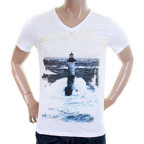 hugo orange label mens white tajco 2 50227805 printed t shirt boss1595 at togged clothing