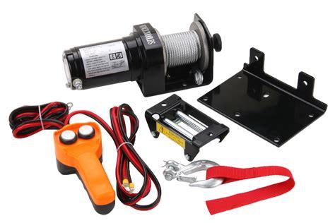 boat winch remote control 2000 lb electric winch 12v volt with remote control quad