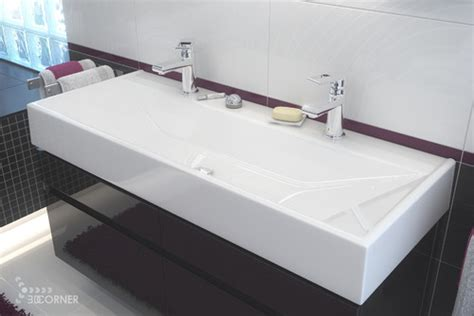 single basin double faucet bathroom sink looking for a single sink with double faucets any