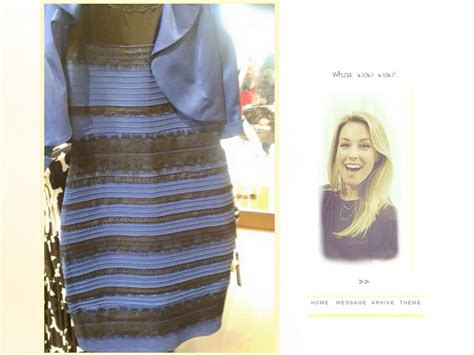 color of the dress white and gold black and blue it s turning the abc news