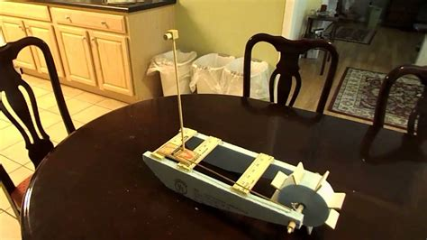 mousetrap powered boat mouse trap boat with pulley system youtube