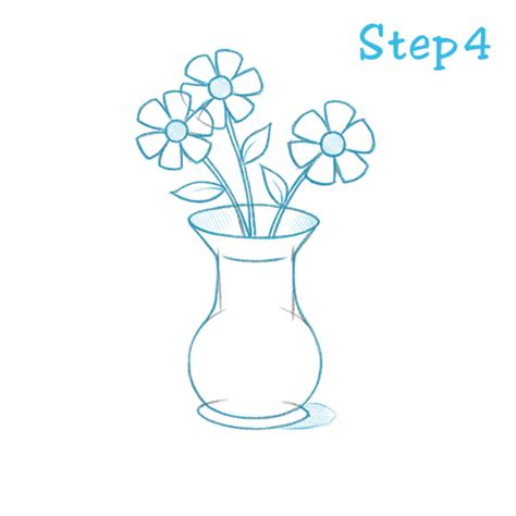 Drawing Of Flowers In Vase by How To Draw A Flower Vase Beginning Sketch2draw