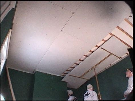 Diy Drywall Ceiling by How To Replace Ceiling Tiles With Drywall How Tos Diy