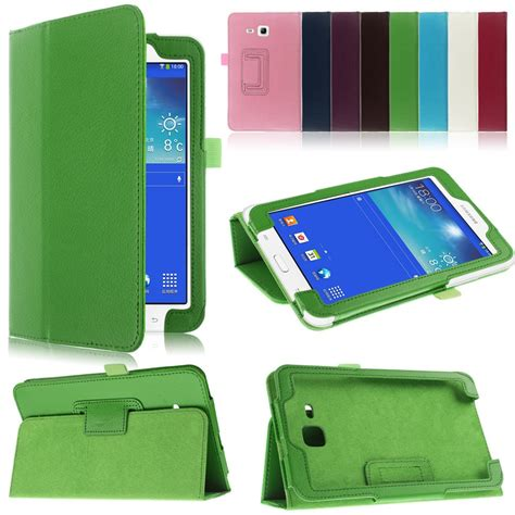 Flip Cover Samsung Tab 3 Lite folio flip leather stand cover for samsung galaxy tab