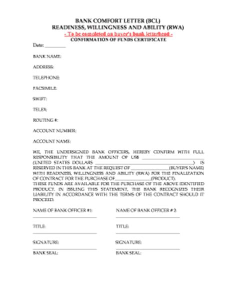 Bank Comfort Letter Bcl confirmation of employment letter for bank forms and templates fillable printable sles