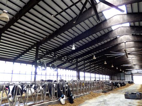 agricultural fans for barns hoffman farms near chatfield mn saves energy and money
