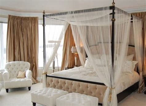 how to put curtains on a canopy bed 25 best ideas about curtain over bed on pinterest