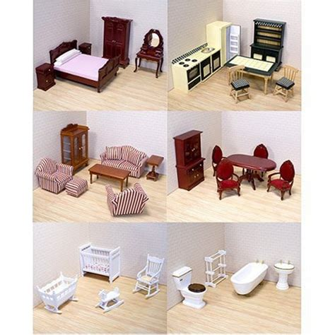 cheap doll houses with furniture