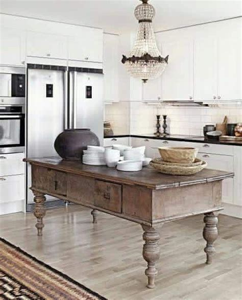 Kitchen Island Vintage Vintage Farmhouse Kitchen Island Inspirations 13 Decomg