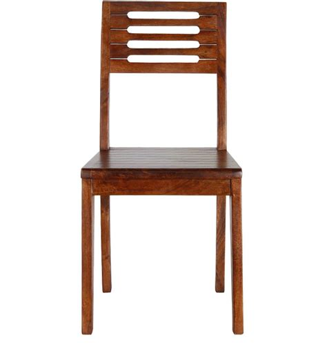 Maple Dining Chairs San Jose Solid Wood Set Of Two Dining Chair In Provincial Teak Finish By Woodsworth By
