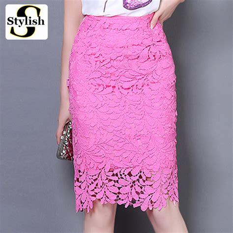 Annbaby 8 H Skirt Rok Korea lace skirt summer high waist pencil skirts 2017 fashion korean style hollow