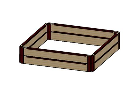 raised bed brackets 6 quot tall 4x4 kit with wood raised bed brackets raised