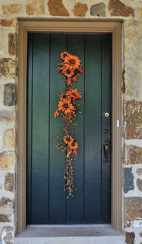 door decorated for 21 diy fall door decorations diy ready