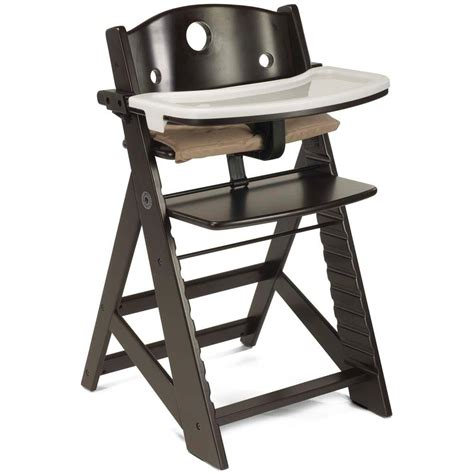 high chair for table keekaroo height right wooden high chair with tray baby