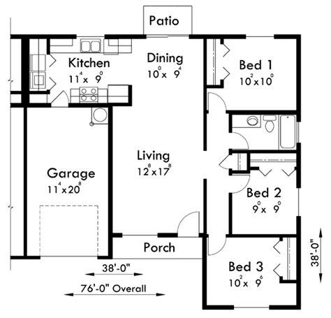 3 Bedroom Duplex House Plans by Floor Plan For D 516 One Level Duplex House Plans 3
