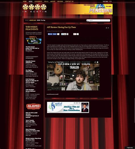film up review having fun up there red cow entertainment
