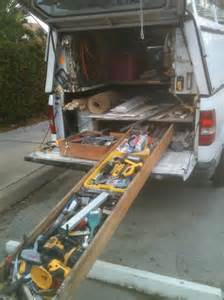 How To Make A Canopy Bed Without Posts homemade truck bed slide tools amp equipment contractor