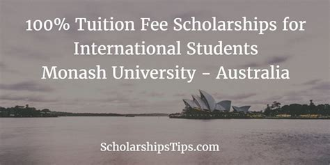 Monash Mba Fees For International Students by Undergraduate Scholarships Tips