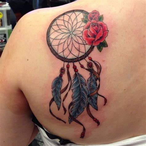 dreamcatcher with roses tattoo 55 dreamcatcher tattoos tattoofanblog