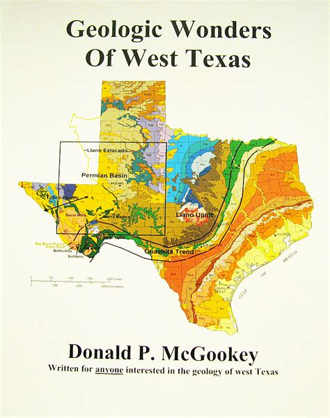 texas geological survey maps geologic wonders of west texas 29 95 front books shop