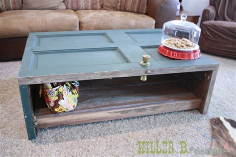 hometalk reclaimed door coffee table