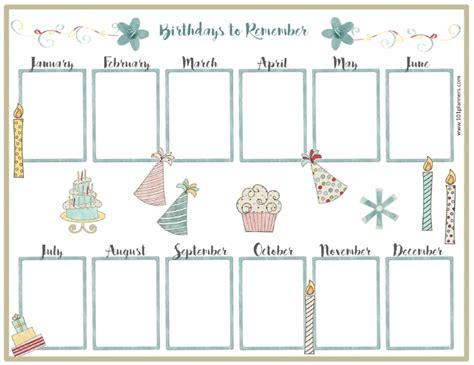 free fillable birthday calendar template fillable birthday calendar template calendar printable