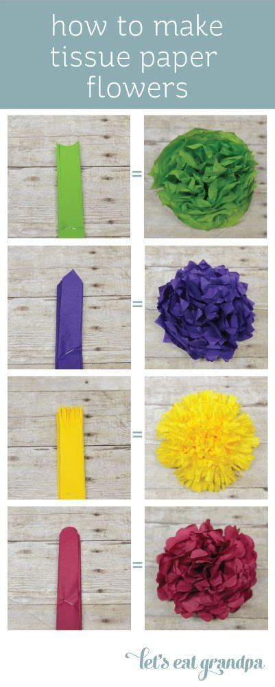 How To Make Tissue Paper - best 25 tissue paper flowers ideas on paper