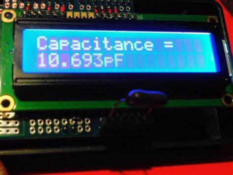 arduino capasitor meter arduino digital capacitance meter electronics infoline