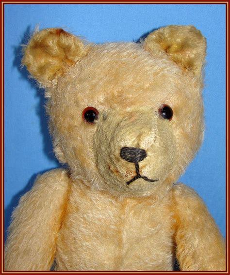 vintage teddy bears early straw stuffed mohair teddy bear looks like an old