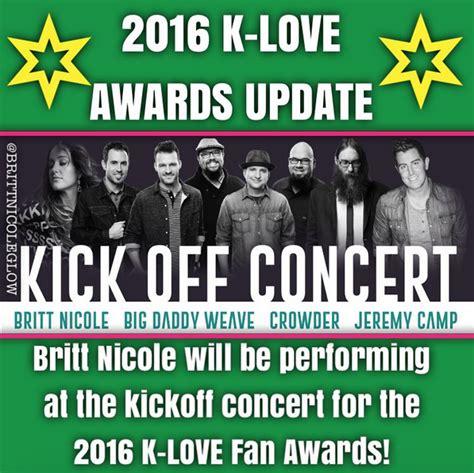 klove fan awards tickets glow a britt fan site britt to perform at