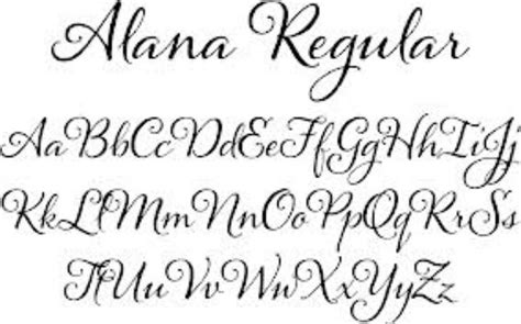 printable calligraphy fonts alana font alphabet calligraphy pinterest fonts