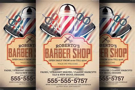 template flyer store barber shop flyer template flyer templates creative market