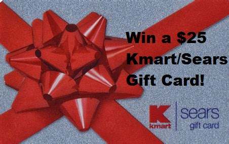 Can You Use Sears Gift Cards At Kmart - weekend flash giveaway enter to win a 25 gift card for kmart or sears