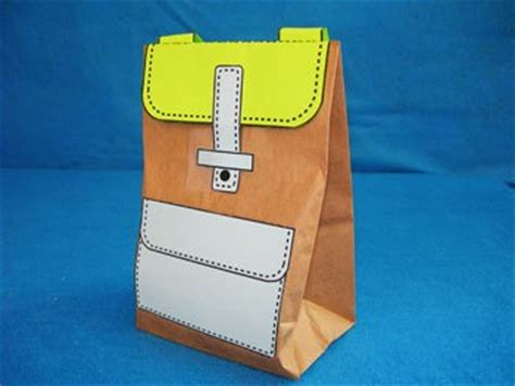 How To Make A Paper Backpack - paper bag backpack lesson plans