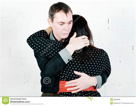 the comfort man man comforting his woman royalty free stock photos image