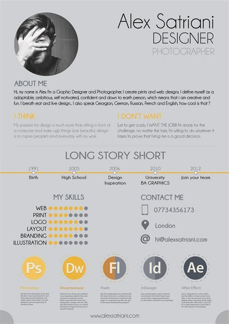 Resume Inspiration by 69 Well Designed Graphic Design Resume Inspirations