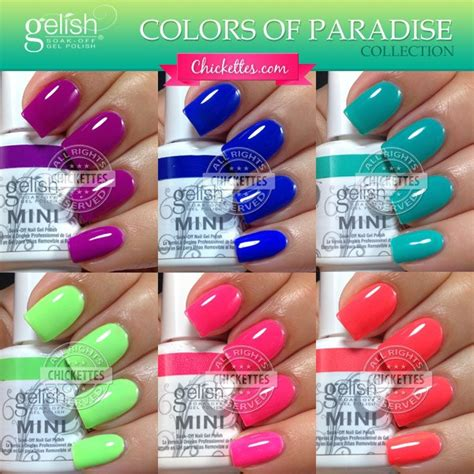 gel polish color speing 2014 gelish colors of paradise collection summer 2014