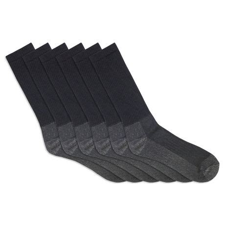 s socks canada fruit of the loom s 6 pair work gear crew socks