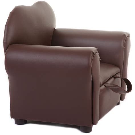 brown leather accent chair with storage and leg idea