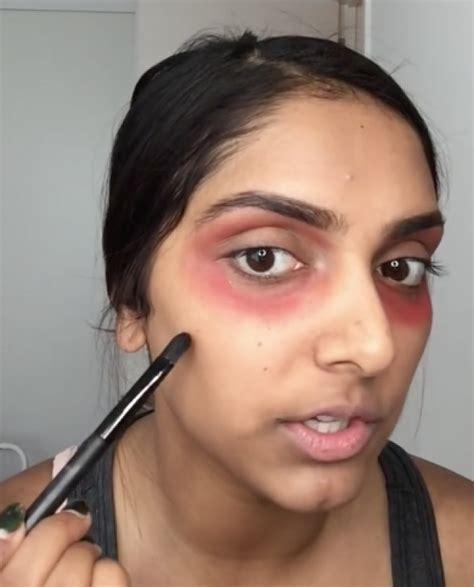 Lipstik Fanbo Merah menghilangkan mata panda dengan lipstik merah tentu saja bisa kawaii japan