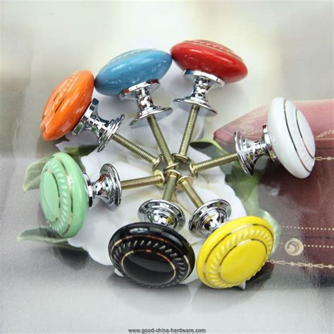 Retro Cupboard Knobs retro style kitchen handles pull drawer ceramic cabinets