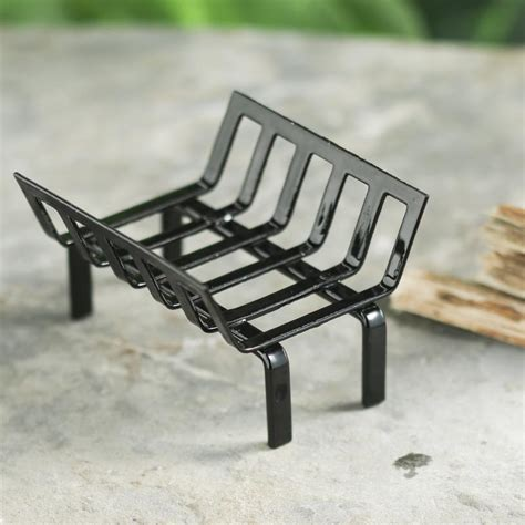 miniature fireplace grate living room miniatures