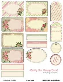 free printable download shabby chic floral journaling elements vintage glam studio